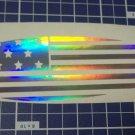 Holographic American Flag SurfBoard Vinyl Car Window Decal Surfboard Sticker