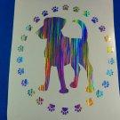 Holographic Rain Dog Doggie Paws Vinyl Car Window Decal Sticker