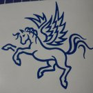 Blue Pegasus Horse Vinyl Car Window Decal Sticker Laptop You Choose Your Color