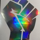 Black Lives Matter Black History Month Blm Fist Holographic Car Window Decal