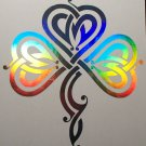 Shamrock Irish Celtic Tribal Holographic Vinyl Truck Car Window Decal Sticker