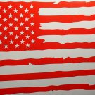 American Flag Distressed You Choose Color Car Window Decal Sign Vinyl Sticker