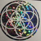 Seed of Life Holographic Vinyl Decal Car Truck Vinyl Decal Ancient Geometry