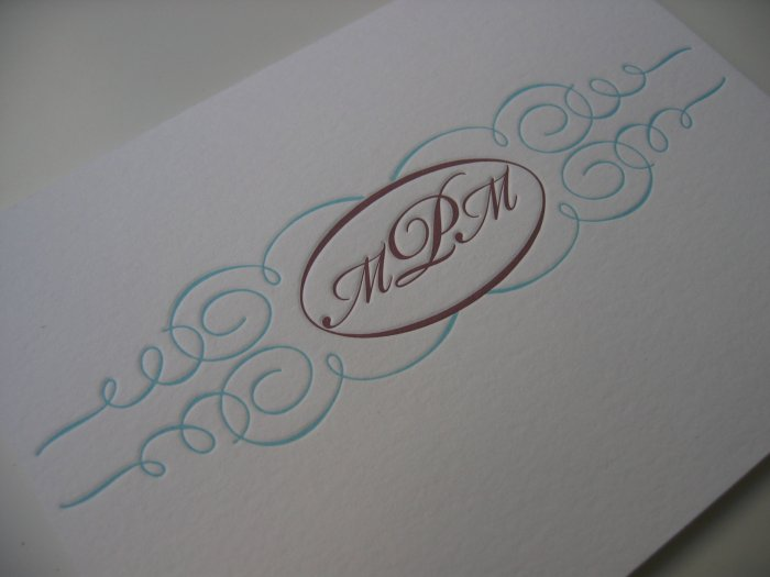 Monogram Custom Stationery