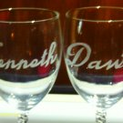 8 oz Wine Glass Set Etched with Your name
