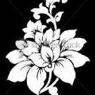 Elegant flower stencil