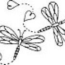 DRAGON flies flutter about a vase