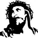 Silhoette of Christ stencil