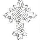 Celtic knot cross stencil