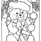 Teddy bear gift stencil