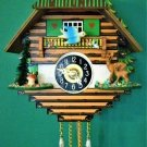 Deer & Blue Bird Quartz Novelty Cuckoo/Westminster clock