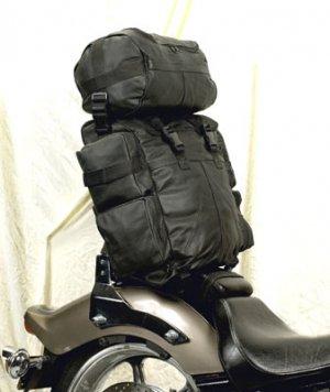Motorcycle Sissybar Leather Travel Traveling Lugage Bag Tour Pack