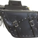 NEW Motorcycle Harley Cruiser Braided Studs Saddle Bags