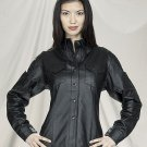 Ladies Leather Shirt w/ Snaps Lining