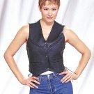 Ladies Vest w/ V-Braid & Side Laces