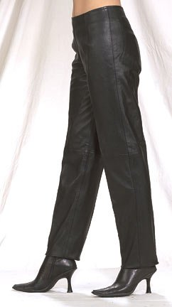 Ladies Hip Hugger Pants, Side Hidden Zipper on Top