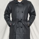 Mens Long Coat w/ Belt & Z/O Lining