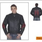 Mens Racer Jacket w/ Flame, Airvent, Z/O Lining w/ Reflector N/W