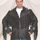 Mens Western Style Jacket w/ Fringes & Beads, Z/O Lining
