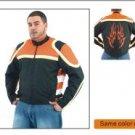 Mens Lightweight Jacket w/ Orange Flame on Back