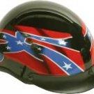 500-DOT Waving Rebel Flag helmet