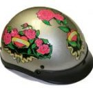 500-DOT Silver Rose Helmet