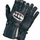 Men's Padded Leather Racing Gloves w/ Metal Knuckle Protector