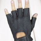 All Leather Fingerless Riding Gloves w/ Gel & Airvent Holes w/ Velcro