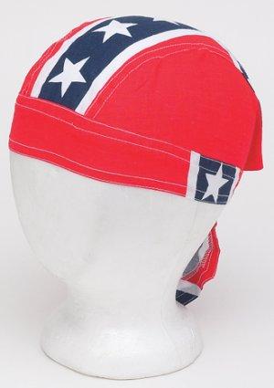 Cotton Skull cap w/ Full Rebel Flag