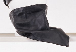Leather Triangular Face Muffler w/ Velcro Strap ( One Size )
