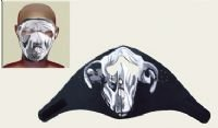 White Bulldog Face Mask w/ Velcro Strap on Back