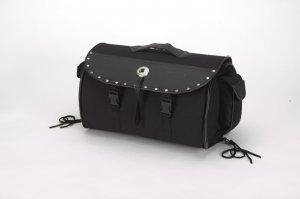 Fine Quality PVC like leather Sissybar Bag w/ Studs & Velcro on Back sb81