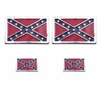 Motorcycle Rebel Flag Logos for saddlebags toolbags windshield bags jackets vests