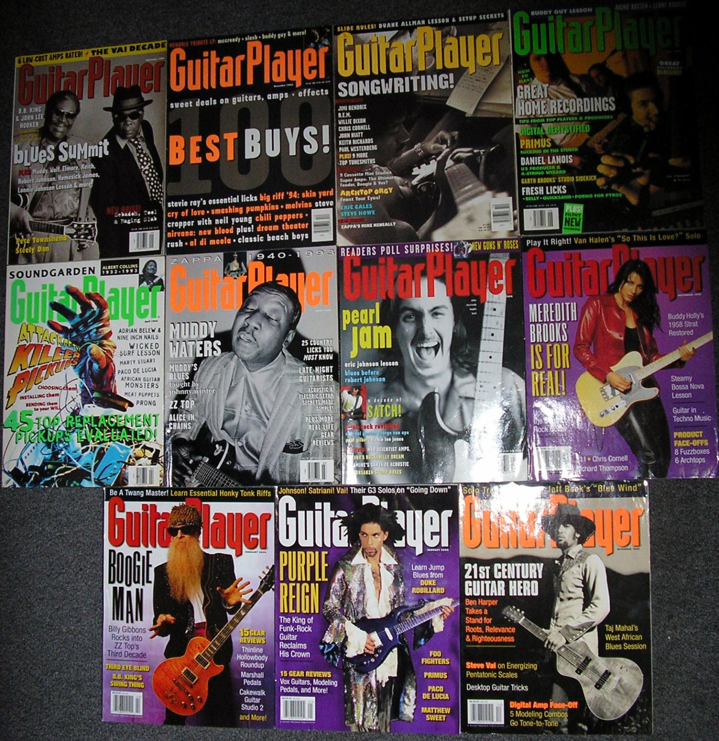 lot of 11 Guitar Player
