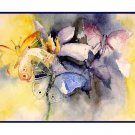8 Watercolor Butterfly Greeting Note Cards Notecards