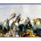 Watercolor Mount Rainier Greeting Note Cards Notecards Set of 8