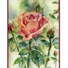 8 Watercolor Kiss From a Rose Notecards Note Cards