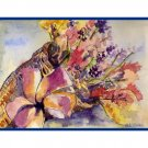 8 Watercolor Cornucopia Notecards Note cards