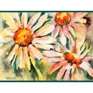 8 Watercolor Daisy Daisies Note Cards Notecards