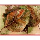 Watercolor Fall Poplar Leaves Note Cards