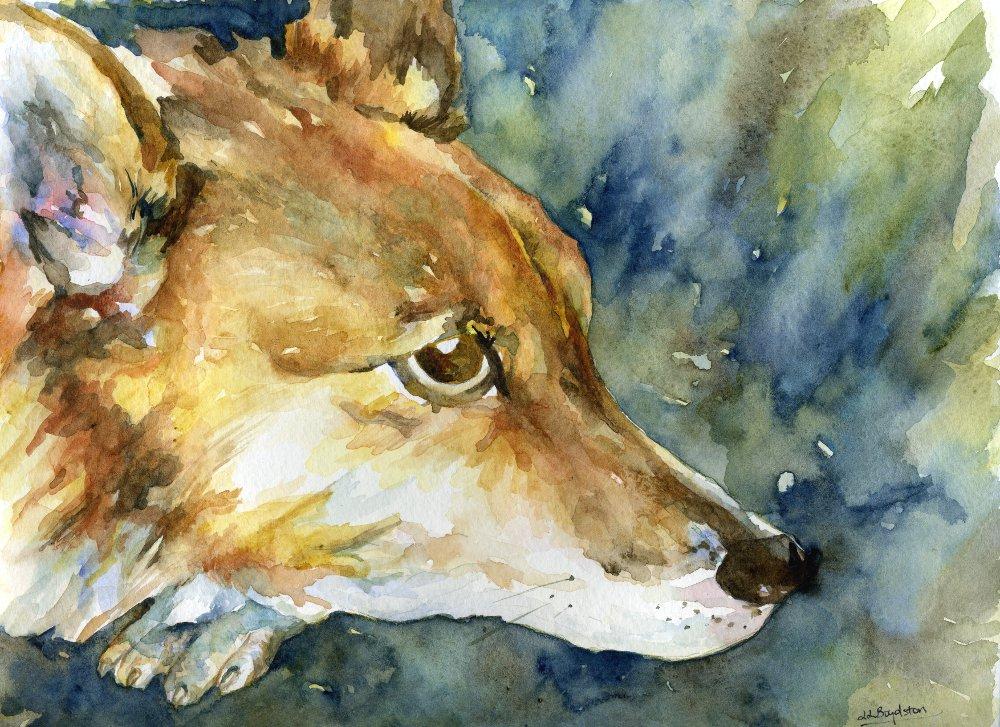 Original Watercolor Pembroke Welsh Corgi Dog Painting