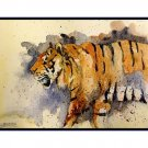 Set of Eight Watercolor Tiger Greeting Notecards Note Cards