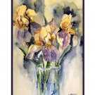 Watercolor Cut Irises Note Cards