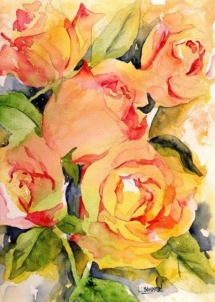Rose Print Giclee, Watercolor Roses