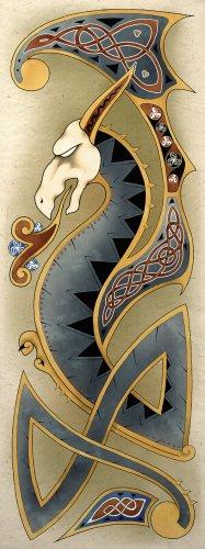Celtic Dragon Art Poster Print