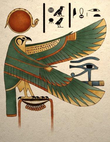 Ancient Egyptian Horus Falcon Art Print Wall Decor
