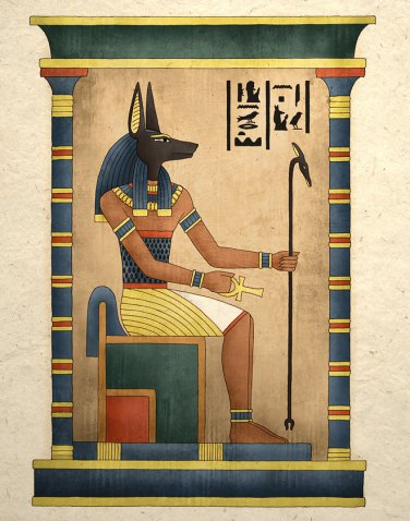 Ancient Egyptian God Anubis Art Print Wall Decor