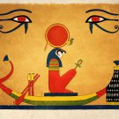 Ancient Egyptian Art Print Sun God Ra Wall Decor