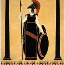 Ancient Goddess Athena Minerva Greek Roman Art Print Wall Decor