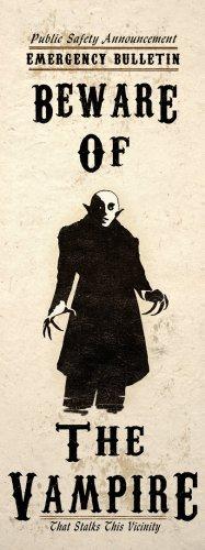 Beware Of The Vampire Macabre Horror Art Poster Wall Decor